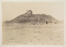Depar Gangro, Hyderabad District, Sindh. General view of the thul or stupa